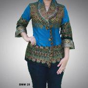 15 Model Baju Muslim Modern Kombinasi Batik
