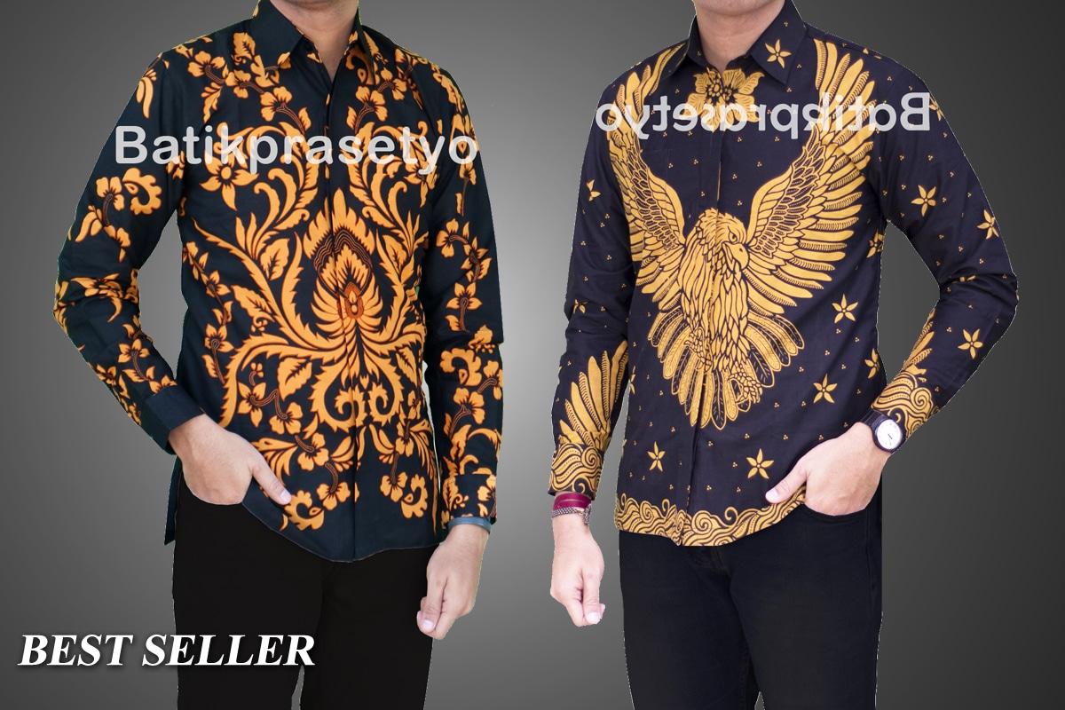 56 Contoh Baju Batik Yang Cocok Untuk Pria Gemuk Paling Hist